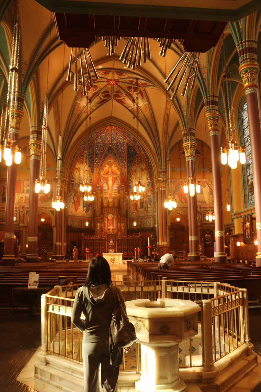 Just a couple blocks to the east of downtown Salt Lake City was the Cathedral of the Madeleine, which featured a pretty grand interior that reminded us of some of the cathedrals found in Europe