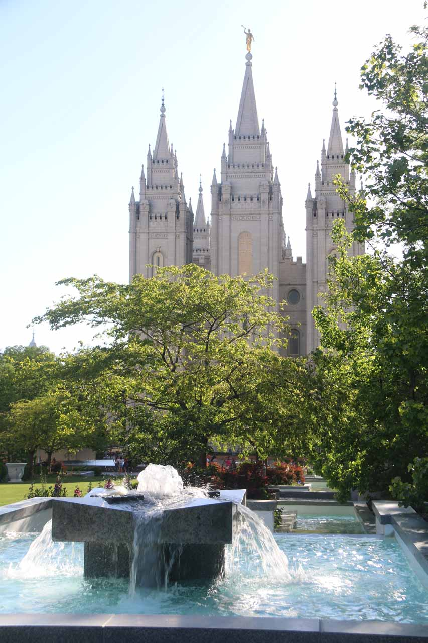 Lisa Falls and Little Cottonwood Canyon was roughly 30 minutes drive southeast of downtown Salt Lake City, which was most known for the beautiful Temple Square in the heart of the city's downtown area