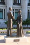Salt_Lake_City_058_05272017 - Checking out a statue of Joseph and Emma Smith on the east side of Temple Square