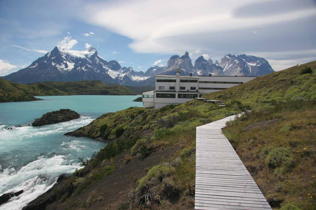 Looking back towards Explora and the Cuernos del Paine from the top of Salto Chico
