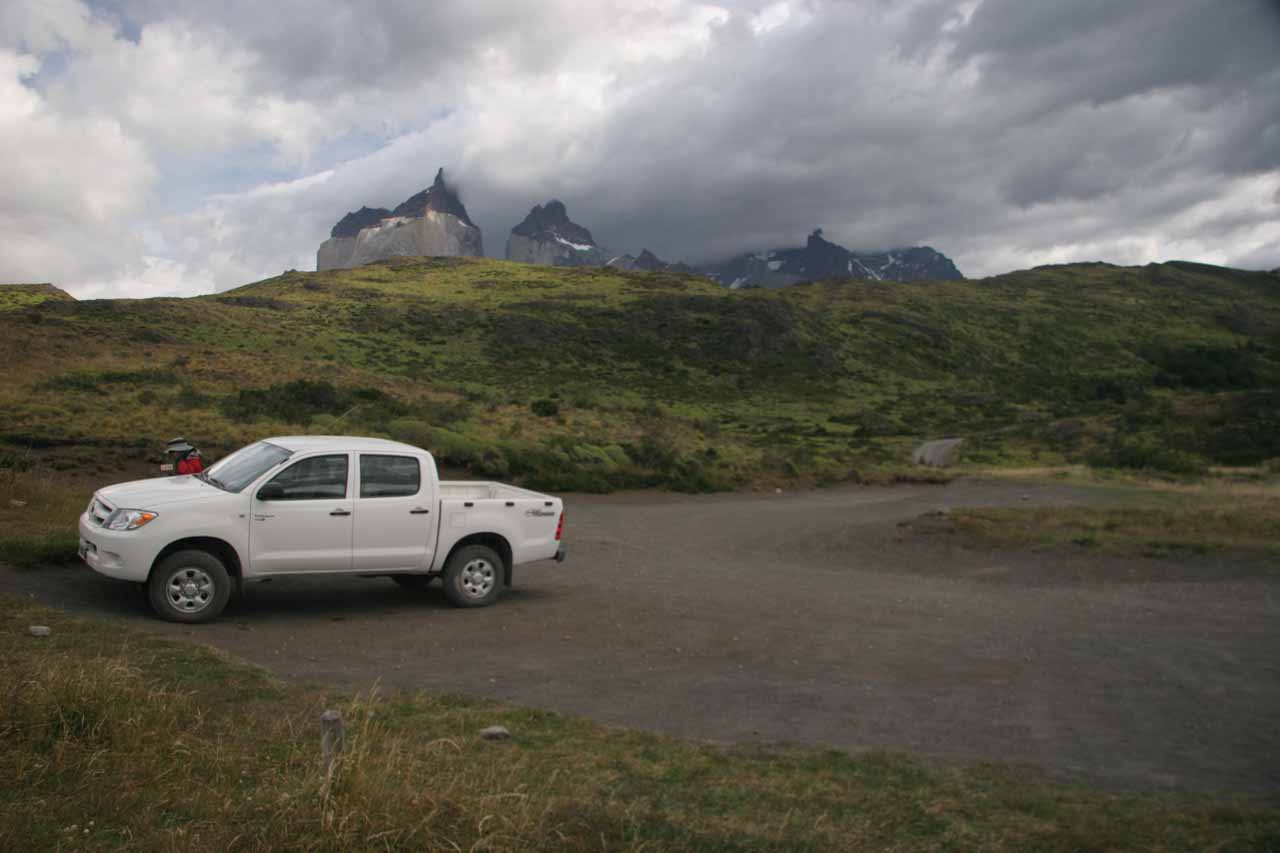 The car park for Salto Grande