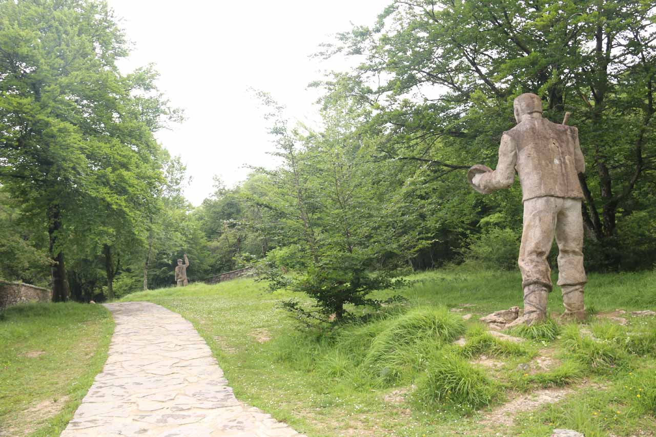 We noticed these big statues off this branch trail though I wasn't sure what they represented nor who they were