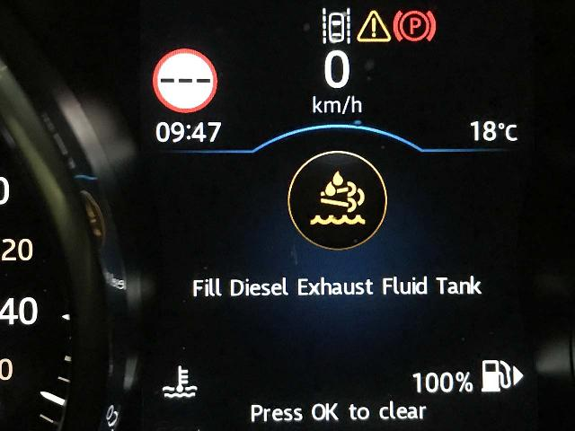 The warning message about the diesel blue needing to be filled when we first started to notice it while driving around Salzburg