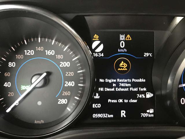 The warning message about the diesel blue getting worse as the vehicle threatened to not start after another 740km!