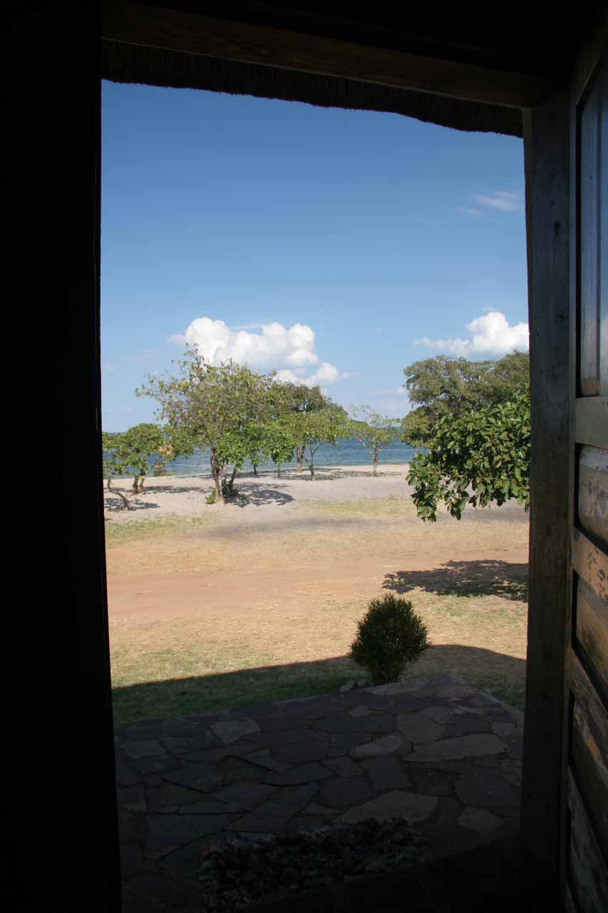 View of Lake Bangweulu from our room