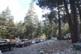 San_Antonio_Falls_002_02072015 - The parallel parking situation along the divided Mt Baldy Road as seen during our visit in February 2015, which was a drought year as we've had a dry January and February after having had some early season storms