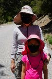 San_Antonio_Falls_012_05082020 - Julie and Tahia wearing masks during our May 2020 hike to San Antonio Falls, where we were actually one of the few people that actually wore the masks