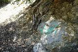 San_Antonio_Falls_024_05082020 - We noticed this defaced rock along Falls Road as it seemed like the graffiti problem had been getting worse over the years in all Southern California Waterfalls as people are bringing the ghetto to the trails. This was seen during our May 2020 hike to San Antonio Falls