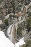 San_Antonio_Falls_062_03282010 - View of San Antonio Falls fronted by a bit of snow at its base during our late March 2010 visit