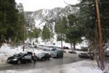 San_Antonio_Falls_16_011_01162016 - Looking back at the busy car parking area  from the Falls Road trailhead for San Antonio Falls