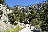 San_Antonio_Falls_189_05082020 - Tahia and Julie continuing on the return hike from San Antonio Falls in May 2020 as we approached Mt Baldy Road again