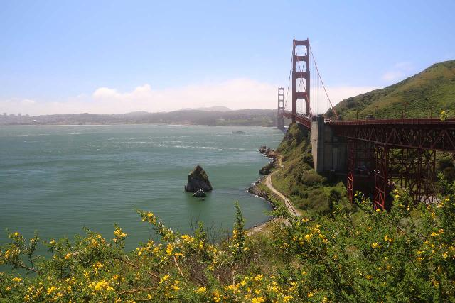 San_Francisco_150_04202019 - Stairstep Falls was north of the Golden Gate Bridge in Marin County.  This bridge was the iconic gateway allowing traffic to access Marin County directly north of San Francisco