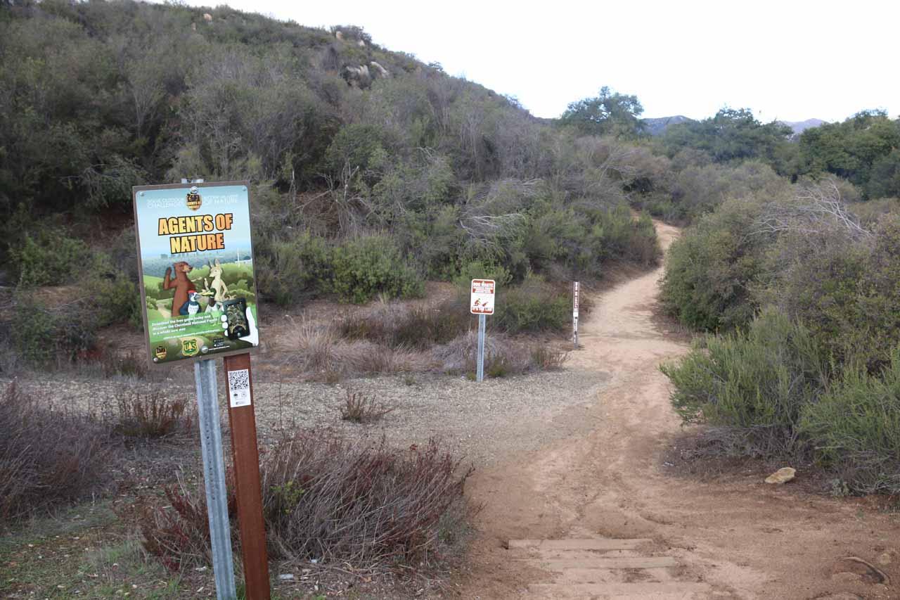At the start of the trail towards San Juan Falls