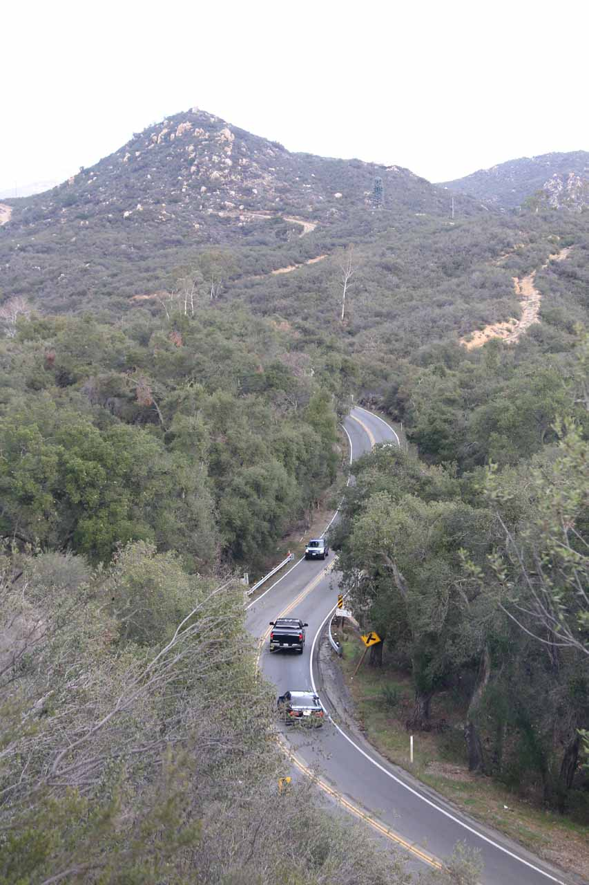 The beginning of the trail to San Juan Falls was very close to the Ortega Highway, where we could appreciate just how busy the road was given the amount of noise