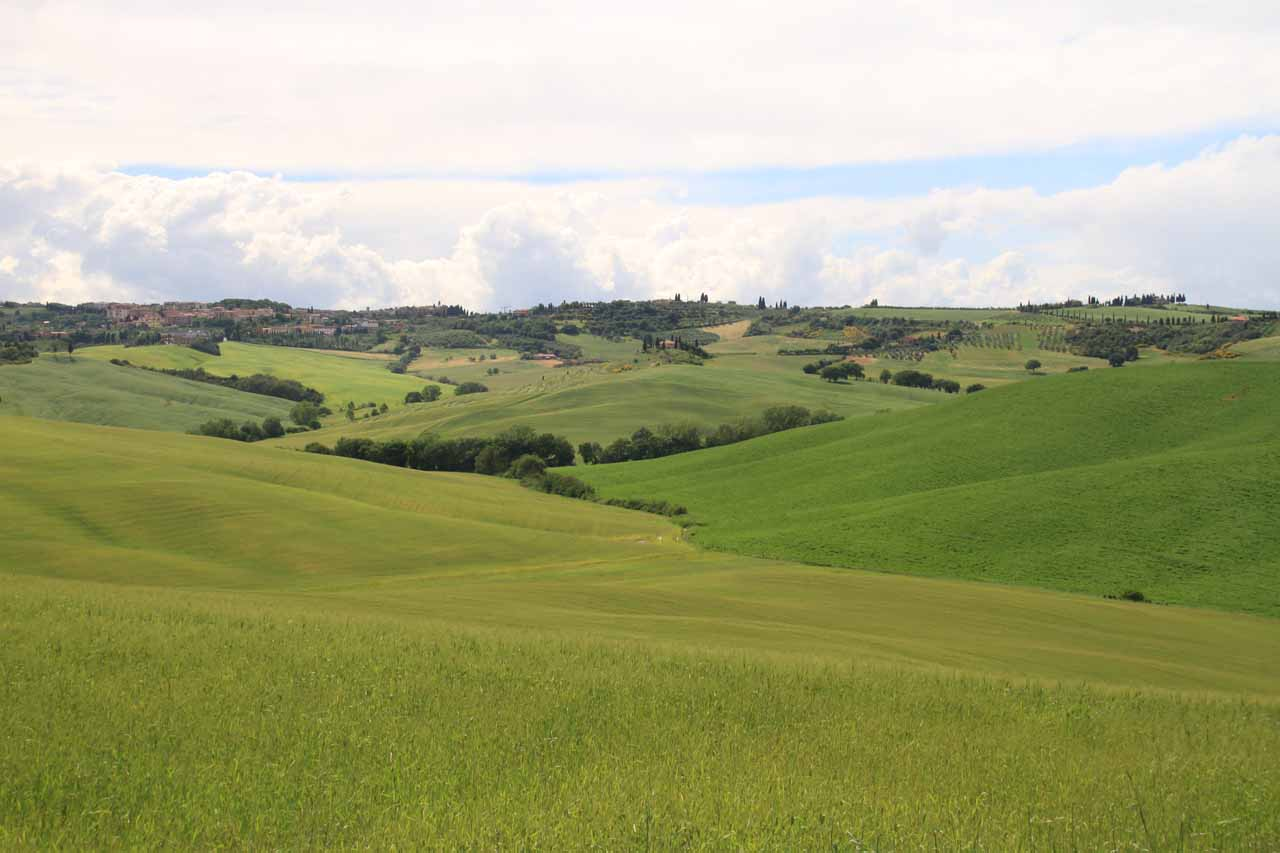 The weather calmed down enough after we checked in so we could see the surrounding countryside at Val d'Orcia