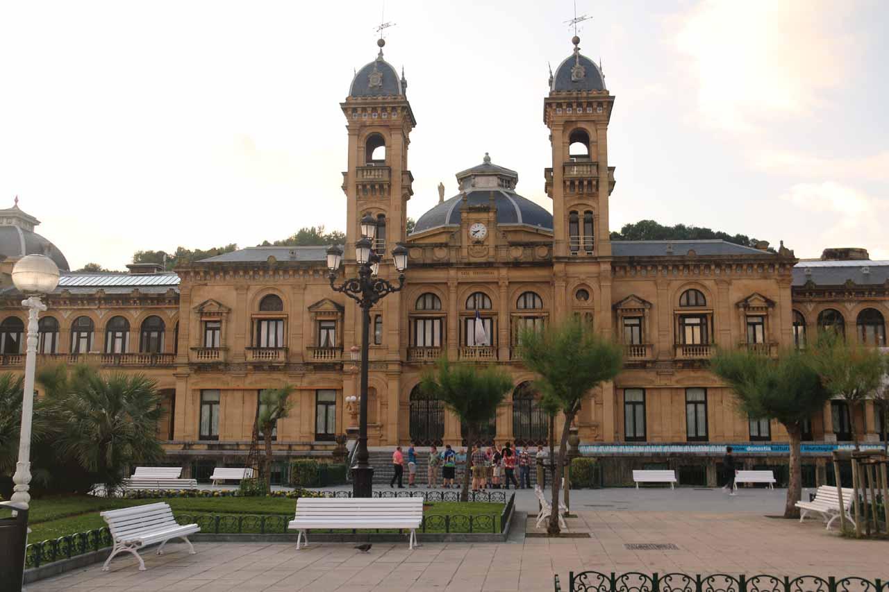 Approaching the Ayuntamiento at the Casco Viejo of San Sebastian