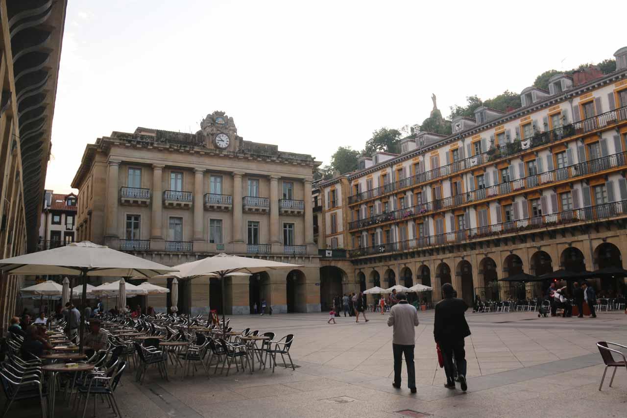 A fairly quiet Plaza de la Constitucion as we went looking for a place to eat