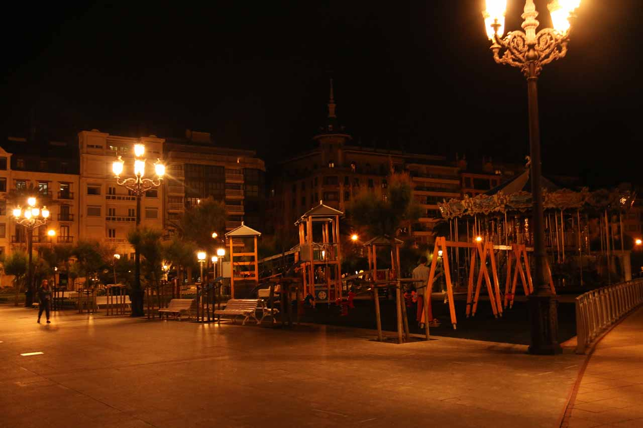 The playground by the Ayuntamiento (town hall) in Donostia