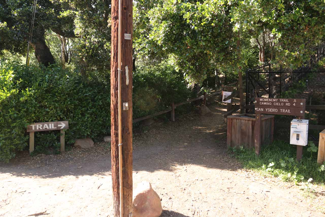 The San Ysidro Trailhead