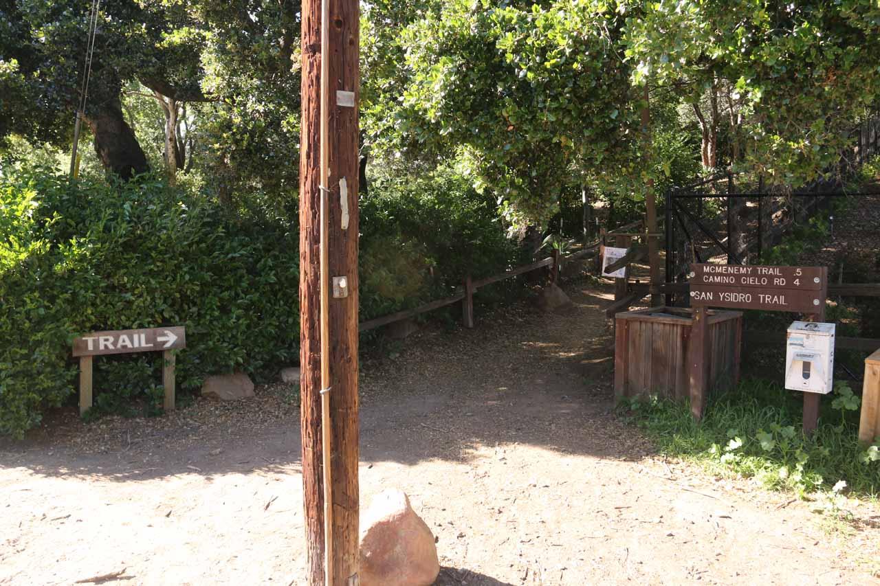The San Ysidro Trailhead