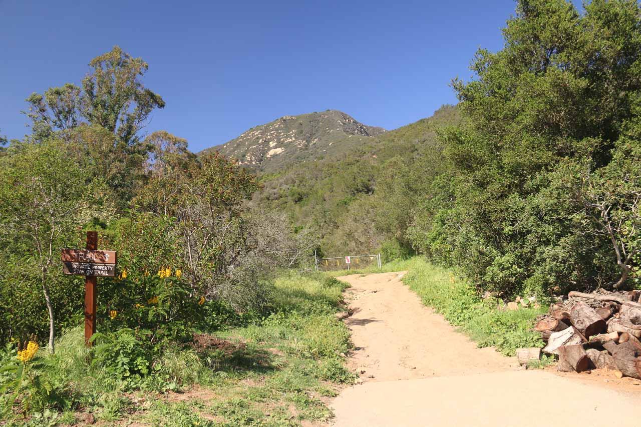 Following the San Ysidro Trail as it left Park Lane West
