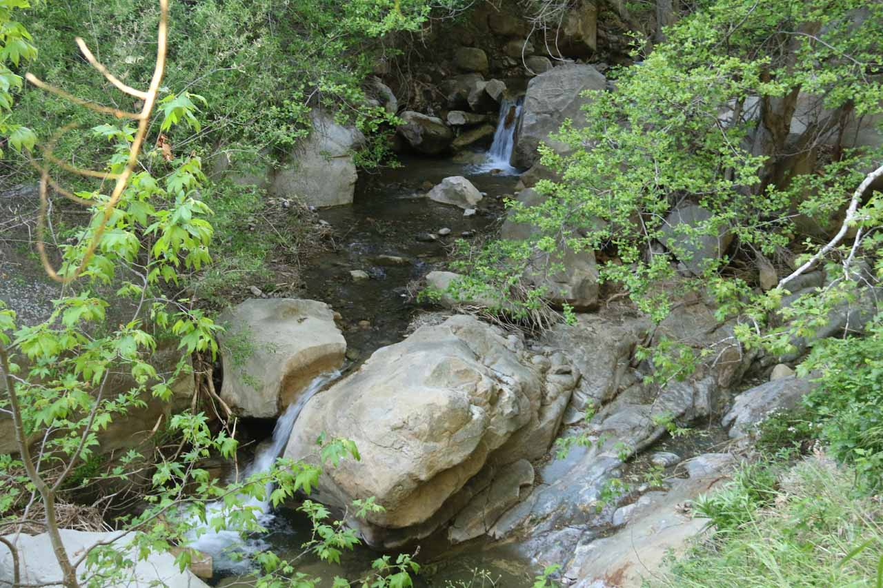 More minor cascades along the San Ysidro Trail