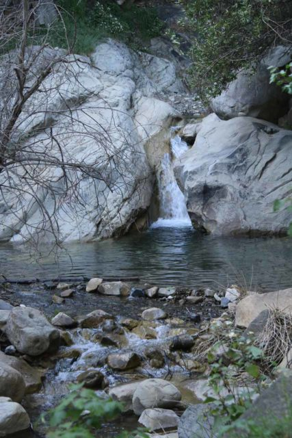 San_Ysidro_Falls_041_04012017 - One of the intermediate waterfalls on San Ysidro Creek as I continued ascending towards the San Ysidro Falls