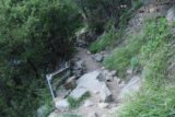 San_Ysidro_Falls_055_04012017 - Shortly after the apex of most of the climb to San Ysidro Falls, the trail then had to traverse this area that seemed somewhat affected by some recent landslides and rockfalls