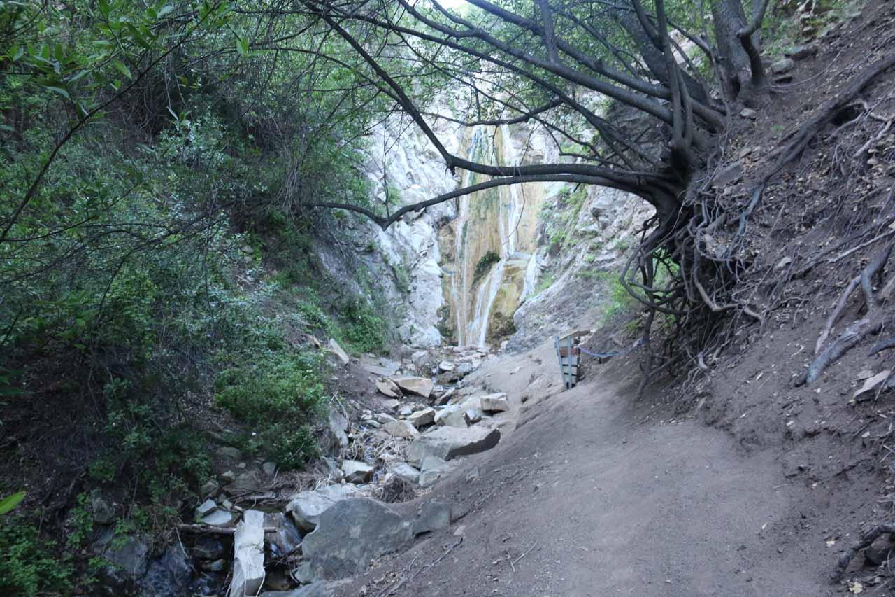 Finally approaching the San Ysidro Falls