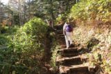 Sanbon_Falls_101_10192016 - Dad going up the steps while Mom was way ahead on the return hike from the Sanbondaki Waterfall