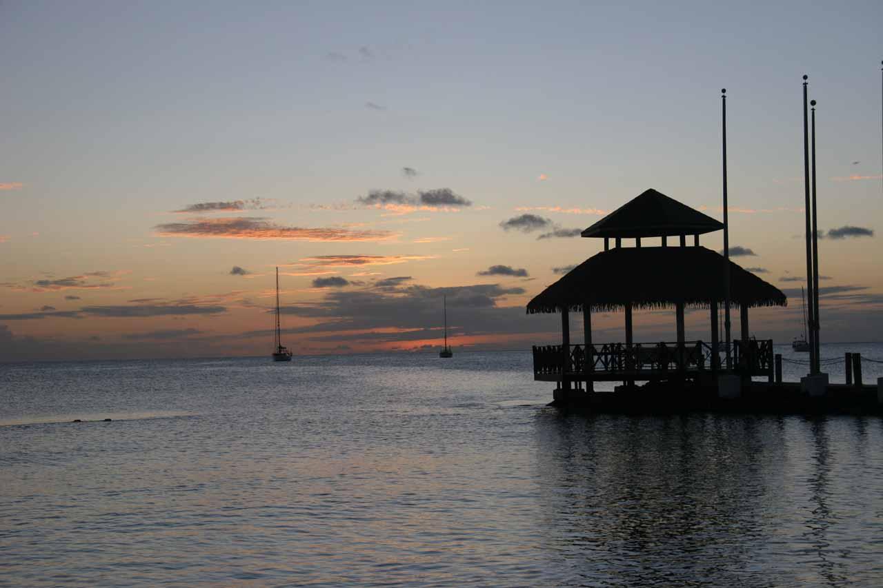 Twilight at the Sandals Grande Resort