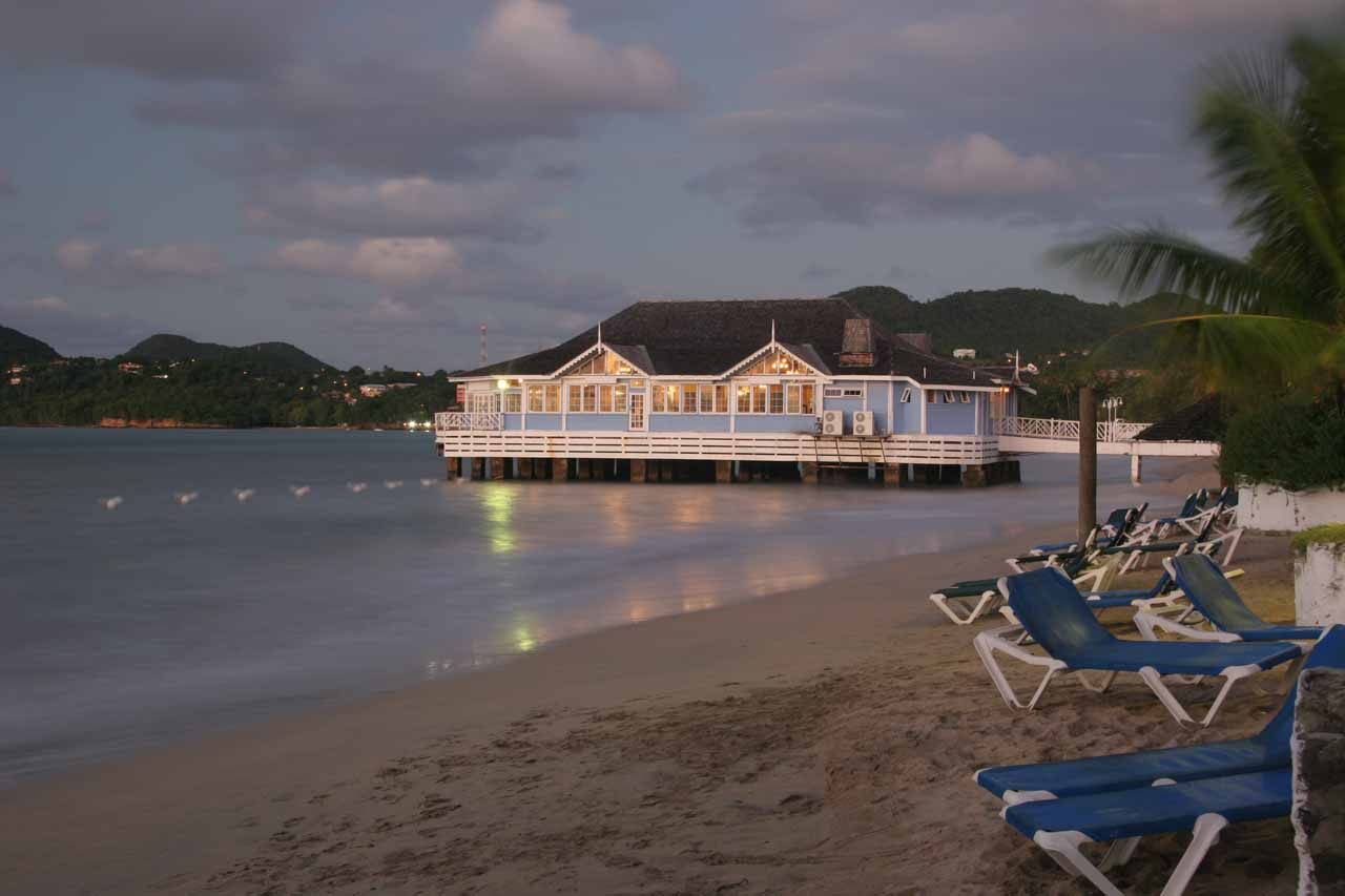 The Pier Restaurant at the Sandals Halcyon