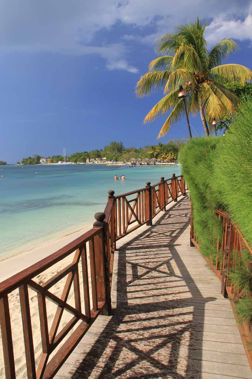 Seven-mile Beach and Sandals Resort in Negril