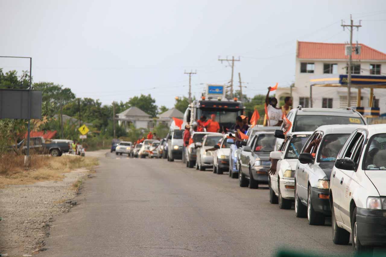 Traffic jam from PNP celebrations at Whitehouse