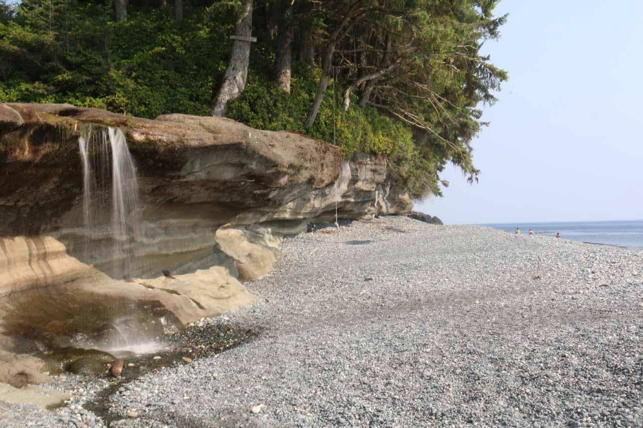 Sandcut Beach Waterfall