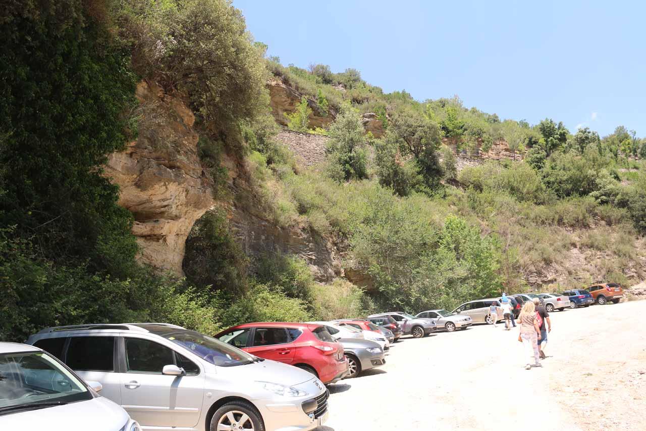 The large car park at Sant Miquel de Fai