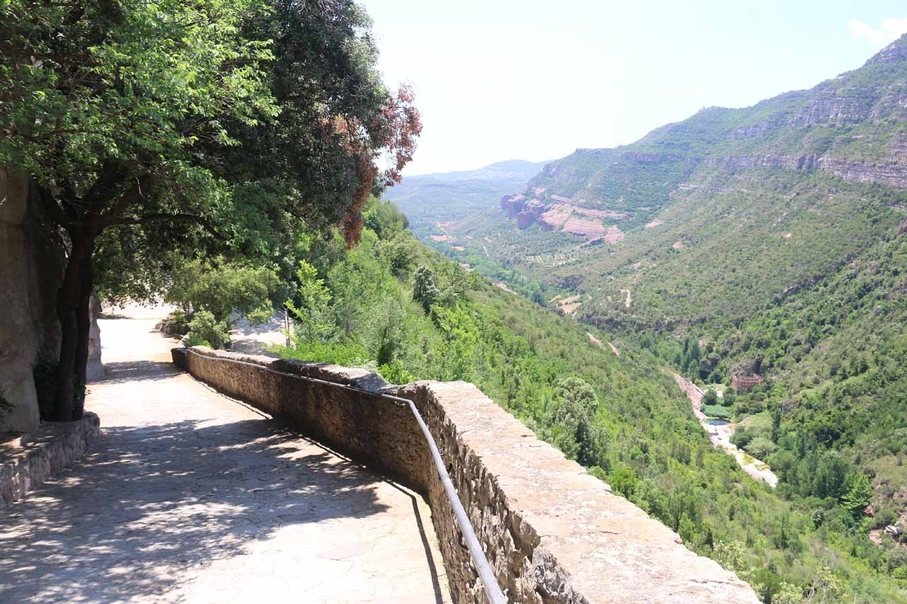 Following the walkway leading down to the monastery while there were views of the Tenes Valley throughout this walk