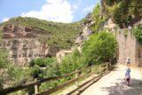 Sant_Miquel_de_Fai_040_06202015 - Julie and Tahia walking towards the entrance of the Monestir de Sant Miquel del Fai