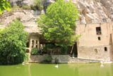 Sant_Miquel_de_Fai_108_06202015 - Looking back across the pond with ducks or geese swimming in it at Sant Miquel del Fai