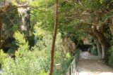 Sant_Miquel_de_Fai_167_06202015 - Julie and Tahia approaching the backside of Salt de Tenes on the main walkway