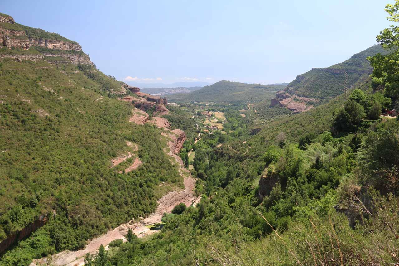 Tenes Valley seen from the Sant Miquel de Fai complex