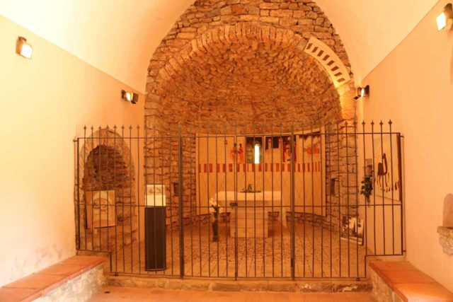 Sant_Miquel_de_Fai_239_06202015 - Inside the hermitage of Sant Martí near the playground and cantina at the far end of the Sant Miquel del Fai Monastery complex