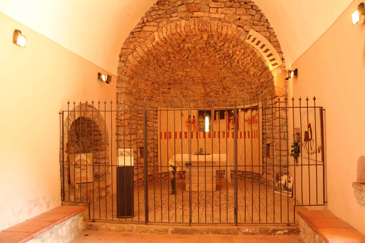 This was the interior of the hermitage of Sant Martí