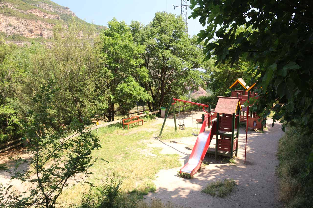 This was the playground area for kids at Sant Miquel de Fai