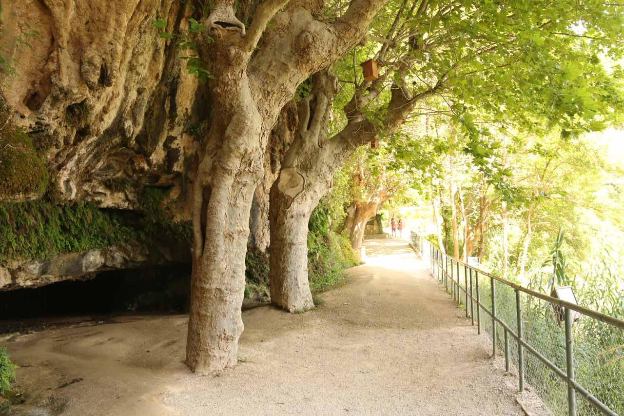 Walking back towards the entrance of Sant Miquel de Fai