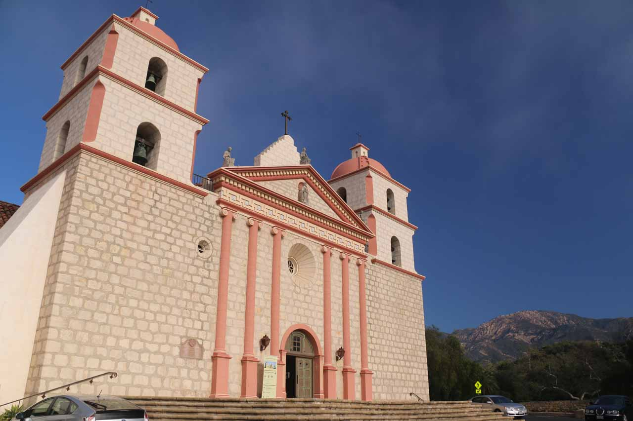 The facade of the Old Mission