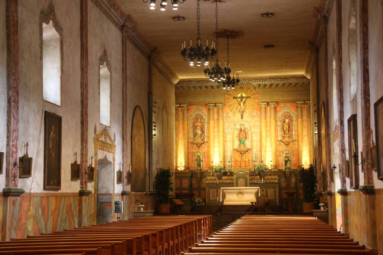 Another look at the church inside the Old Mission