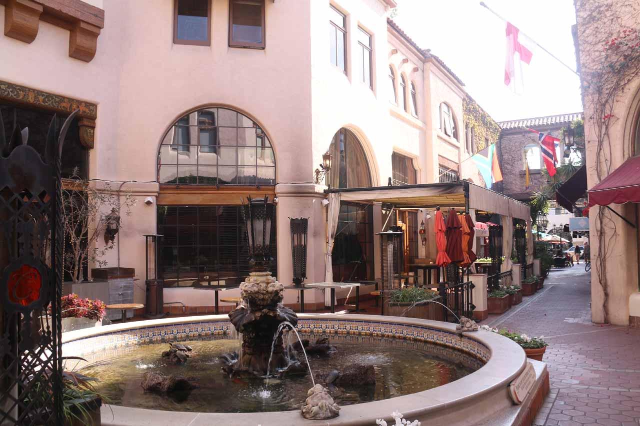 Inside the charming La Arcada