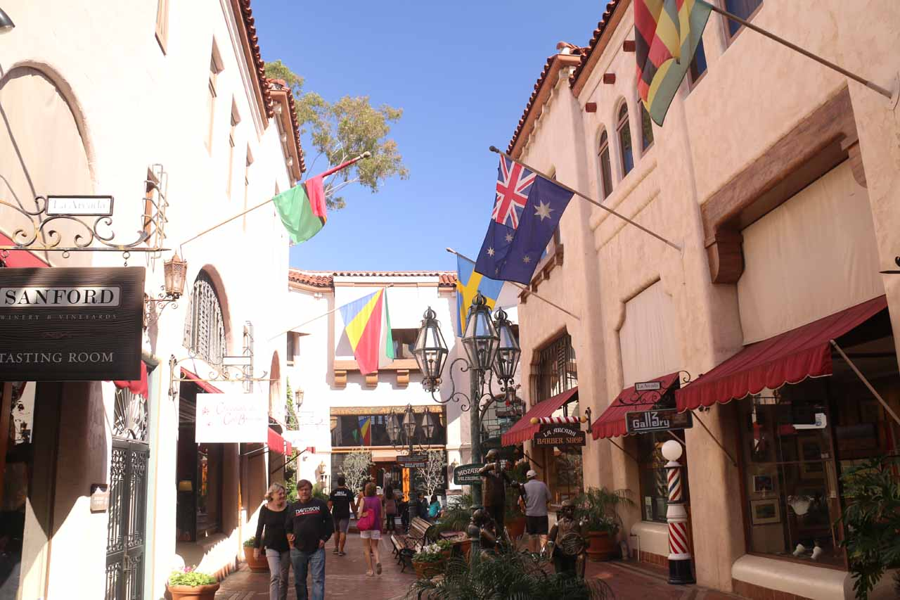To Julie and I, it seemed that they did a great job of developing the city of Santa Barbara as it was very apparent that much of the charm and feel of the Spanish influence was retained