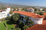 Santa_Barbara_15_248_02162015 - Looking over some Spanish-tiled rooftops of the Old Courthouse from the Clock Tower towards the ocean